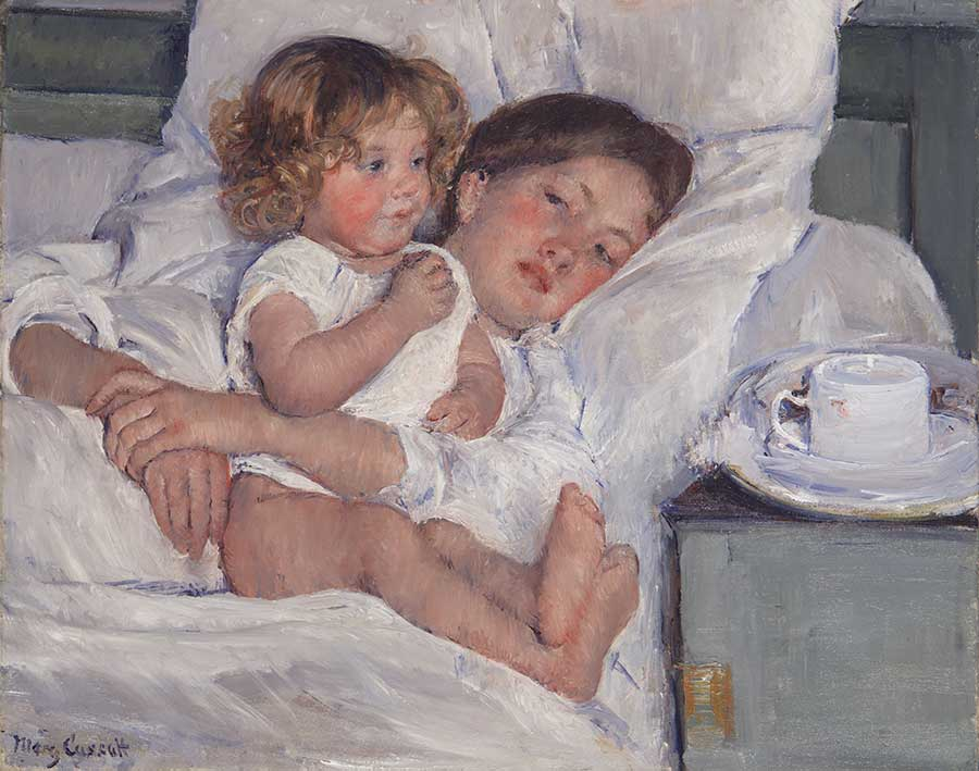 Mary Cassatt, Breakfast in Bed, 1897, oil on canvas, 23 x 29 in. Gift of the Virginia Steele Scott Foundation. The Huntington Library, Art Museum, and Botanical Gardens.