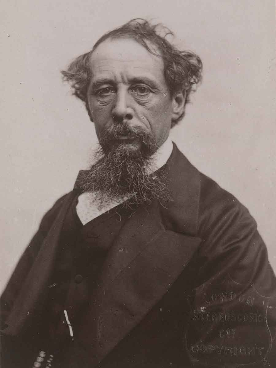 Charles Dickens (1812–1870), photographed in 1861 by John Watson. The Huntington Library, Art Museum, and Botanical Gardens.