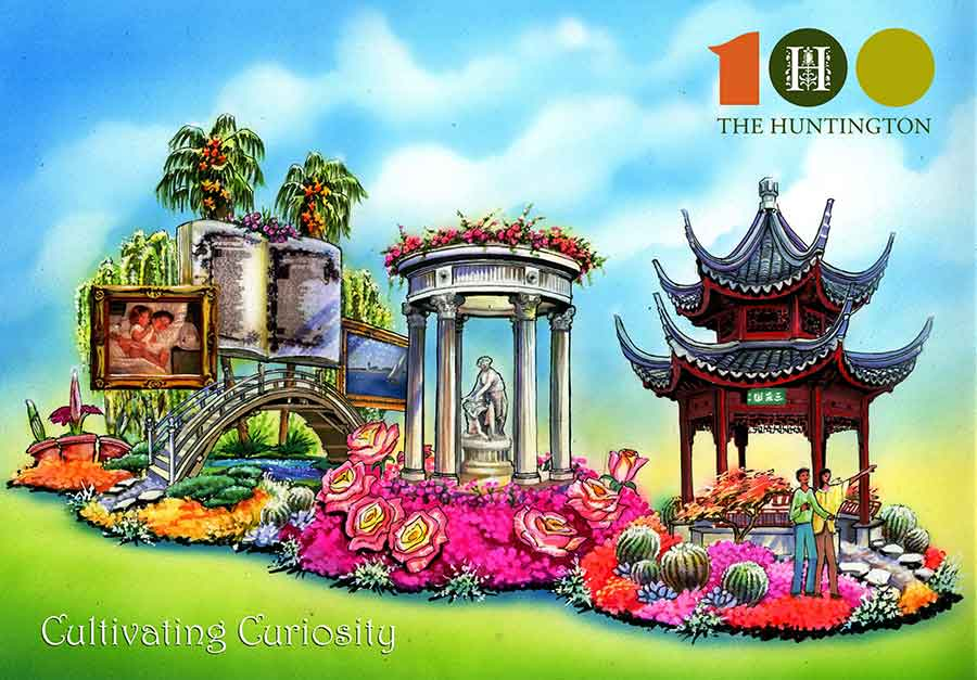 Award-winning float builder Phoenix Decorating Company will produce The Huntington's float in the 2020 Rose Parade®. The floral entry celebrates the institution's Centennial Celebration year (September 2019–September 2020) and is funded by individual donations.