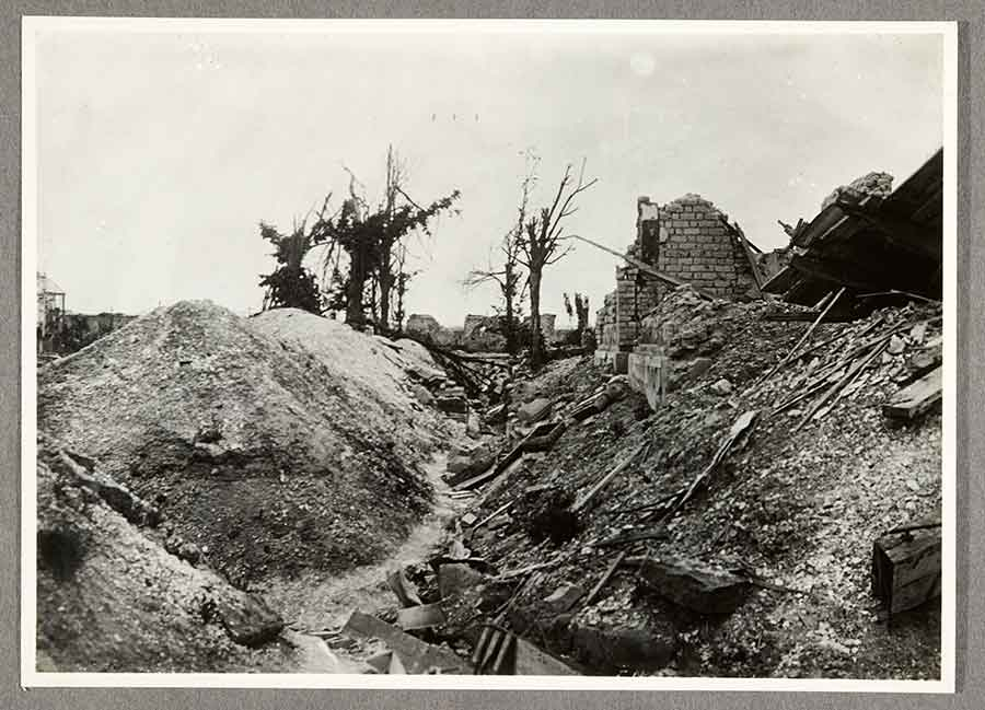 C. C. Pierce, English Trench near Ypres, A.E.F. France, 1919, gelatin silver print, 5 x 6 7/8 in. The Huntington Library, Art Museum, and Botanical Gardens.