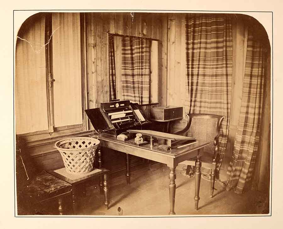 The room in a chalet where Dickens did most of his writing for the last years of his life.