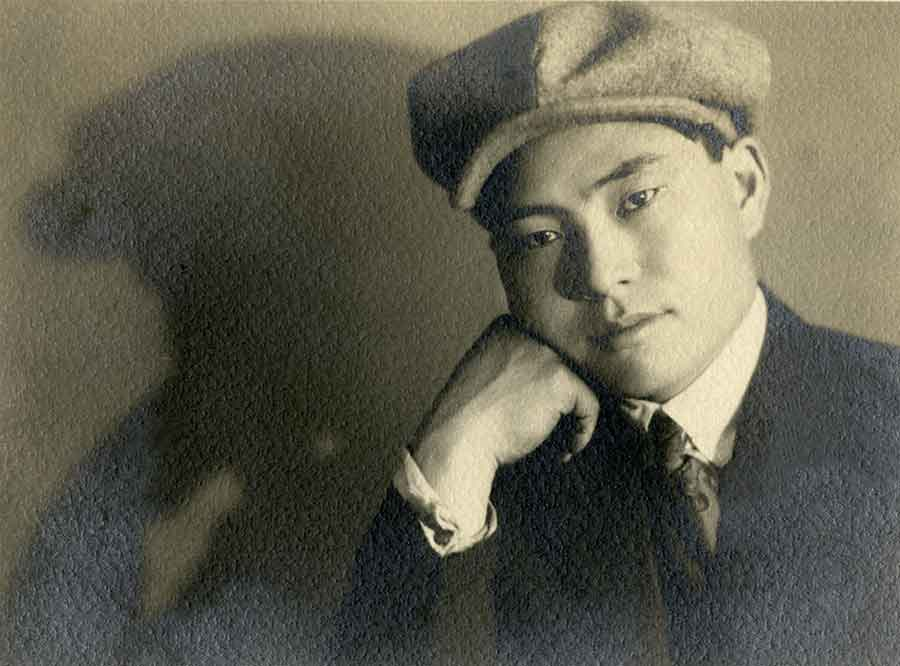 The photographer Shigemi Uyeda at age 21. Courtesy of the Uyeda Family and Dennis Reed.