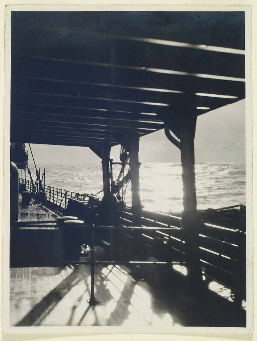 Shigemi Uyeda, untitled, 1920–29, gelatin silver contact print, 4 x 3 in. The Huntington Library, Art Museum, and Botanical Gardens. Radiant, immersive light evokes the presence and perspective of the photographer alongside that of the viewer.