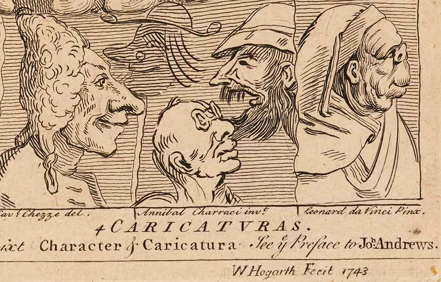 William Hogarth (1697–1764), Detail of Characters and Caricatures, 1743. The Huntington Library, Art Collections, and Botanical Gardens.