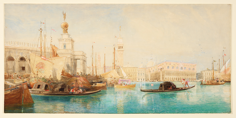 James Holland (British, 1800–1870), Venice, Punta della Dogana, 1864, watercolor over pencil. The Huntington Library, Art Collections, and Botanical Gardens.