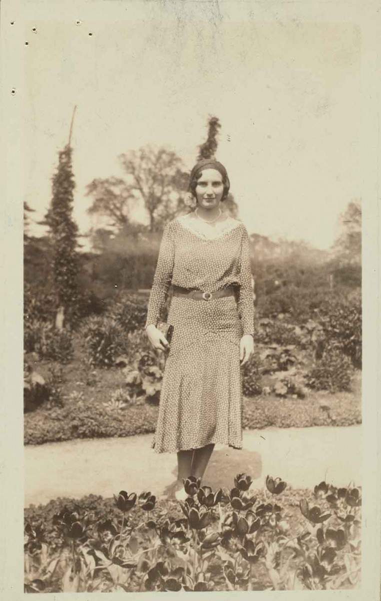Haydée Noya (1903–1992), manuscript cataloger for 39 years at The Huntington. She was the principal cataloger for Hispanic manuscripts for most of her career. Unknown photographer. The Huntington Library, Art Museum, and Botanical Gardens.