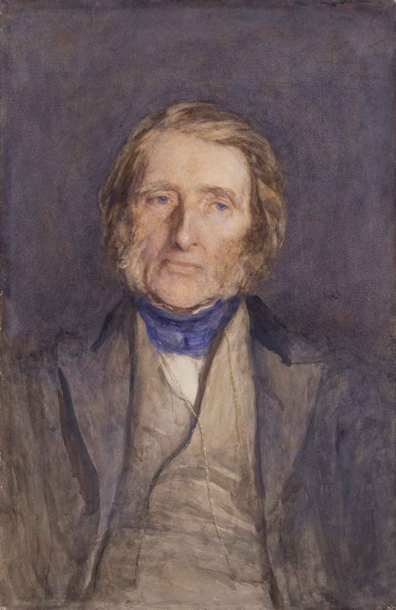 Sir Hubert von Herkomer, John Ruskin, 1879, watercolor. © National Portrait Gallery, London.